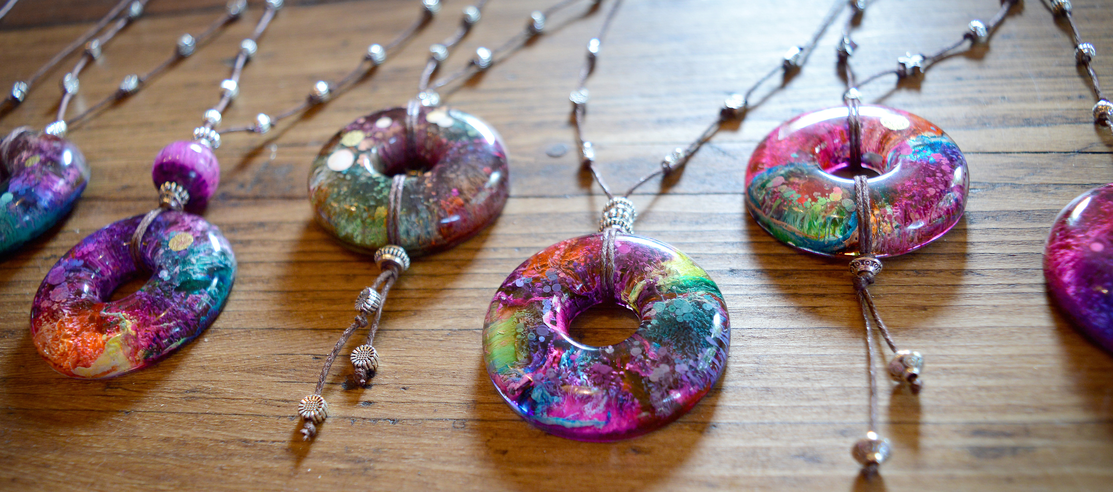 Handmade Resin Pendant Necklaces by Lucy Rawle